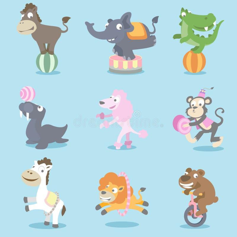 Animales de circo ilustración del vector
