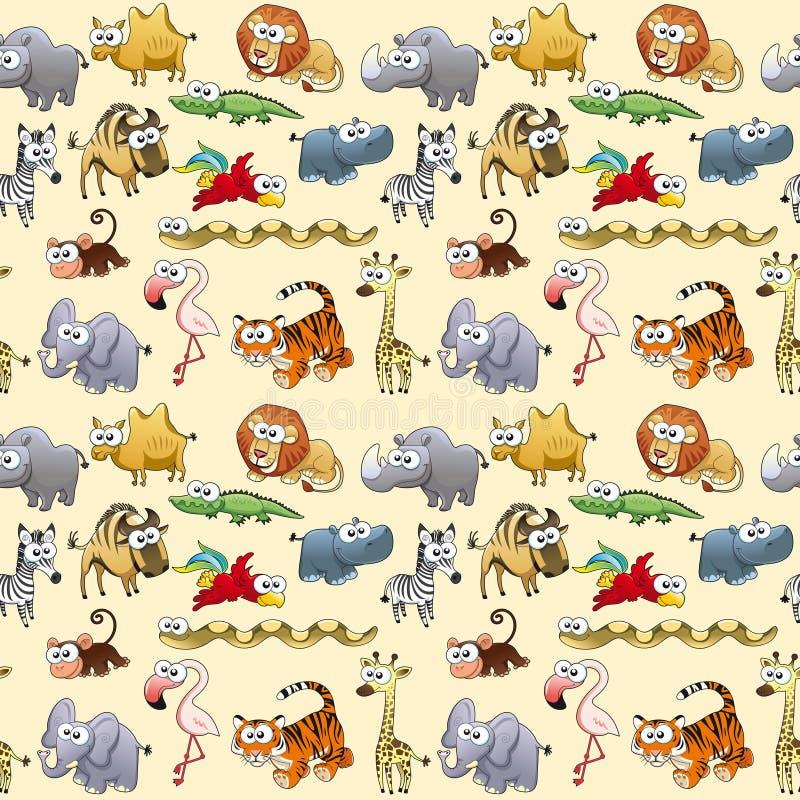 Animales de la sabana con el fondo libre illustration