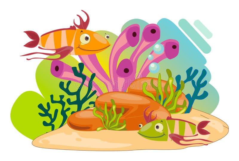 Animales de mar stock de ilustración