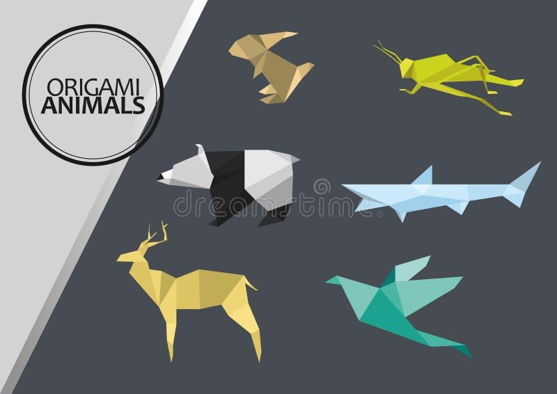 Animales de Origami imagen de archivo