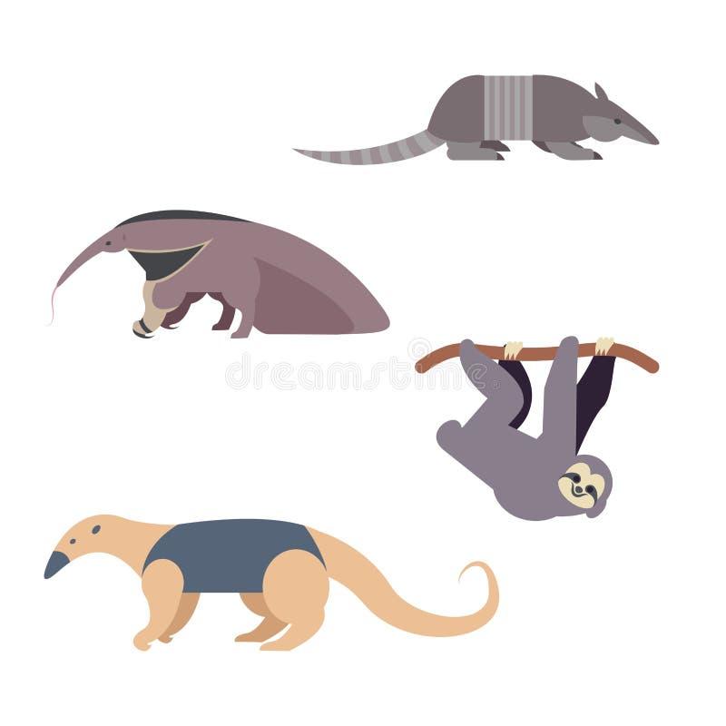 Animales de Suramérica ilustración del vector