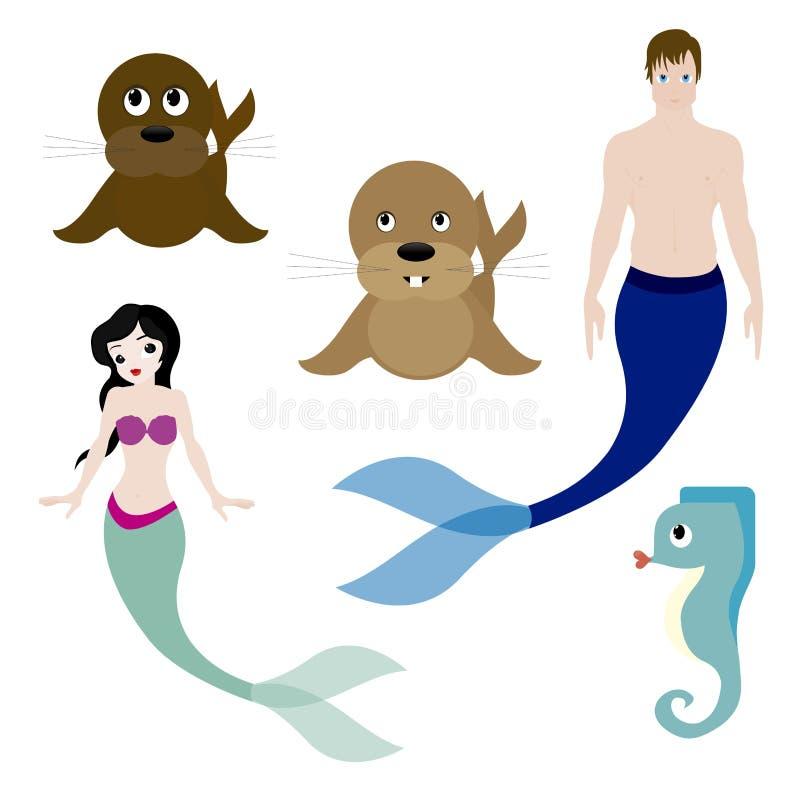 Animales del agua libre illustration