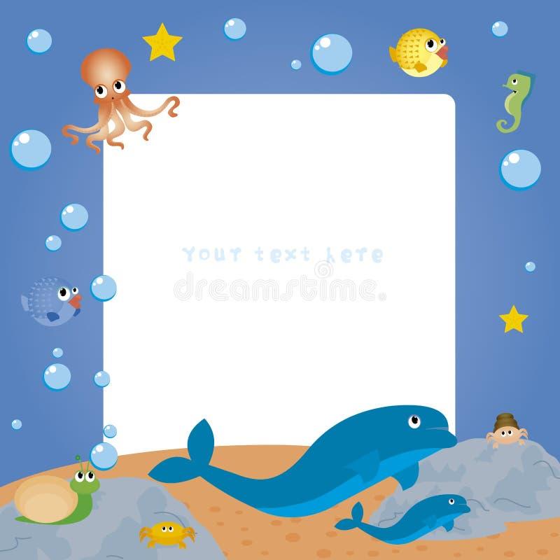 Animales del agua stock de ilustración