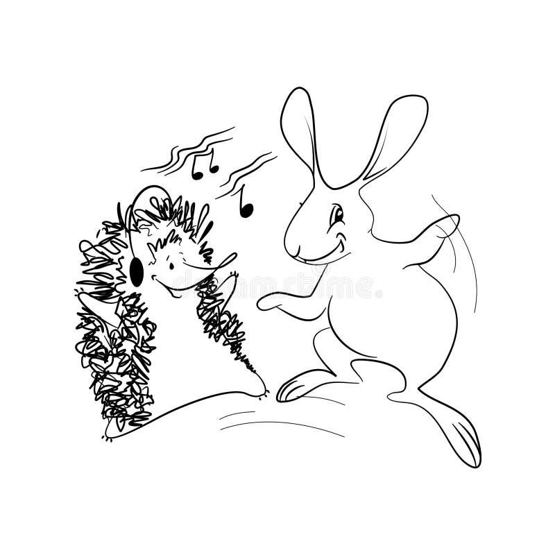 Animales del baile stock de ilustración