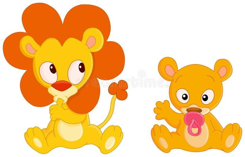 Animales del bebé ilustración del vector