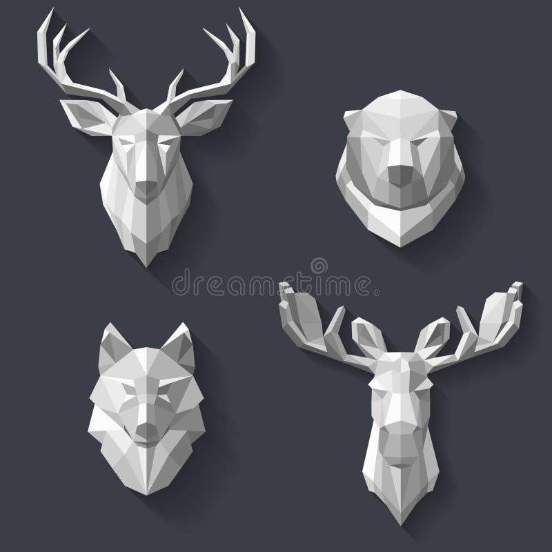Animales del bosque en la pared libre illustration