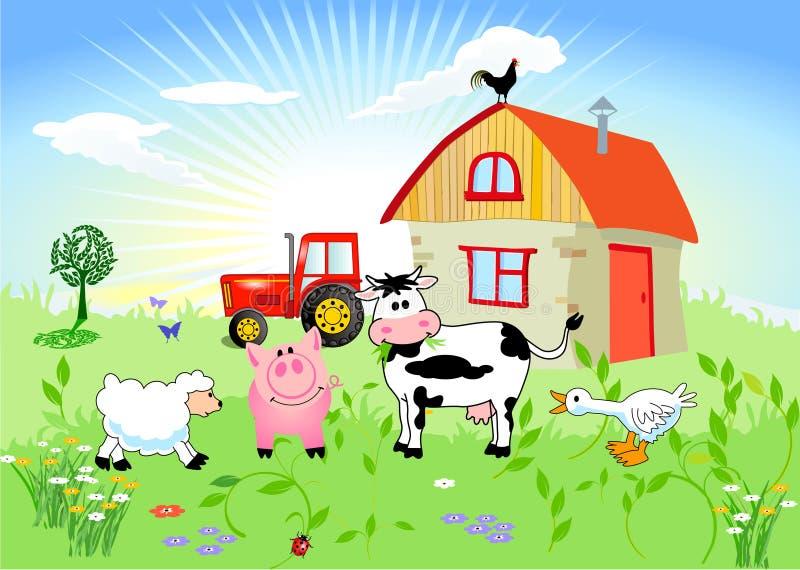 Animales del campo ilustración del vector