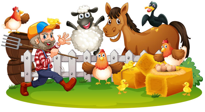 Animales del campo libre illustration