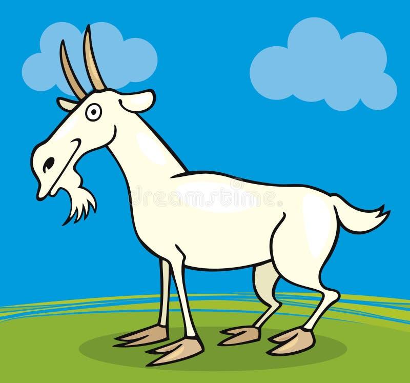 Animales del campo: Cabra ilustración del vector