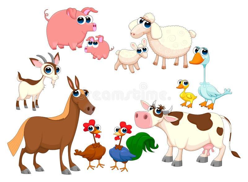 Animales del campo de la familia ilustración del vector