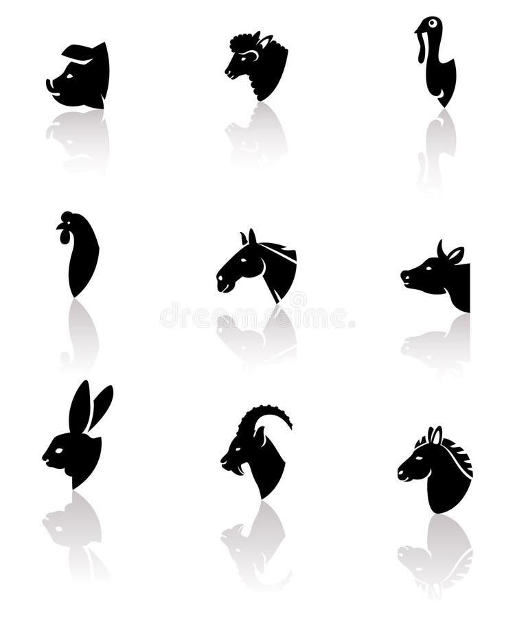 Animales del campo fijados Vector libre illustration
