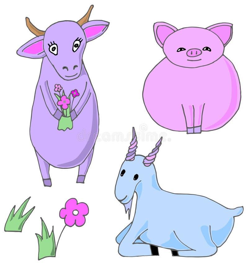 Animales del campo Ilustración del vector ilustración del vector