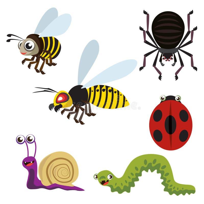 Animales del jard n ilustraci n del vector ilustraci n de for Insectos del jardin