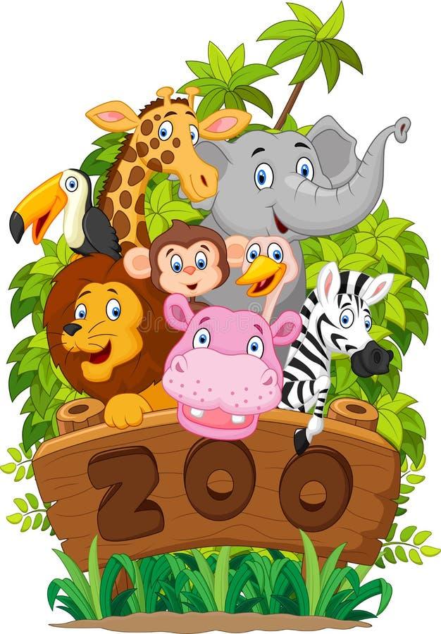 Animales del parque zoológico de la colección de la historieta libre illustration