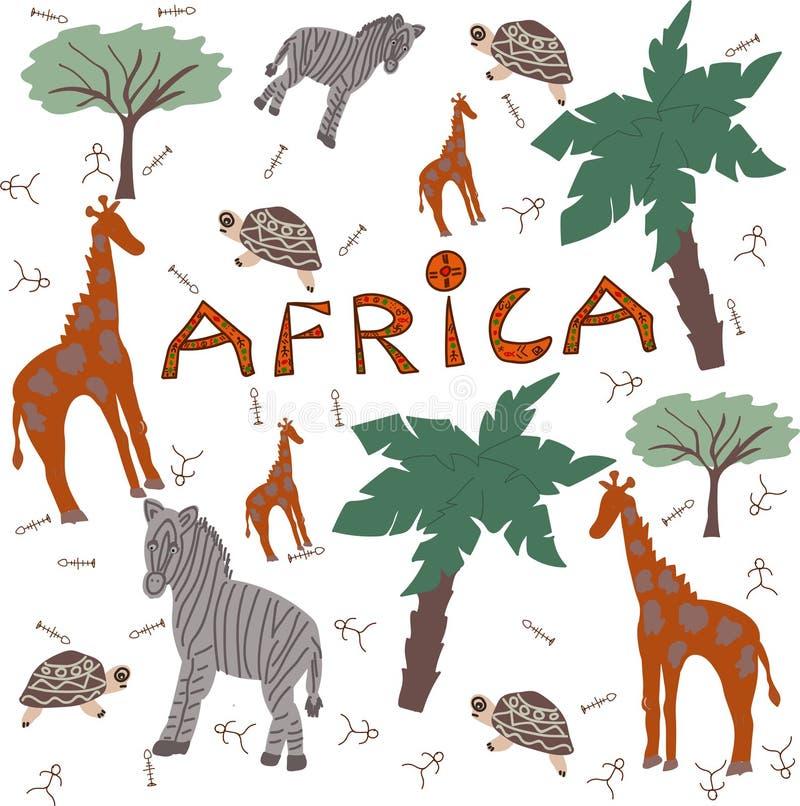 Animales del safari de África libre illustration