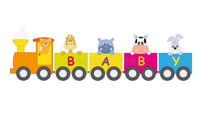 Animales del tren libre illustration