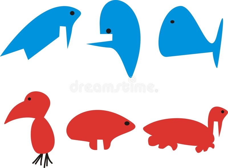 Download Animales divertidos ilustración del vector. Ilustración de vail - 7151249