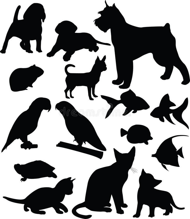Animales domésticos stock de ilustración