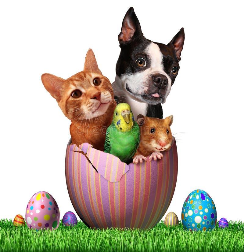Animales domésticos de Pascua stock de ilustración
