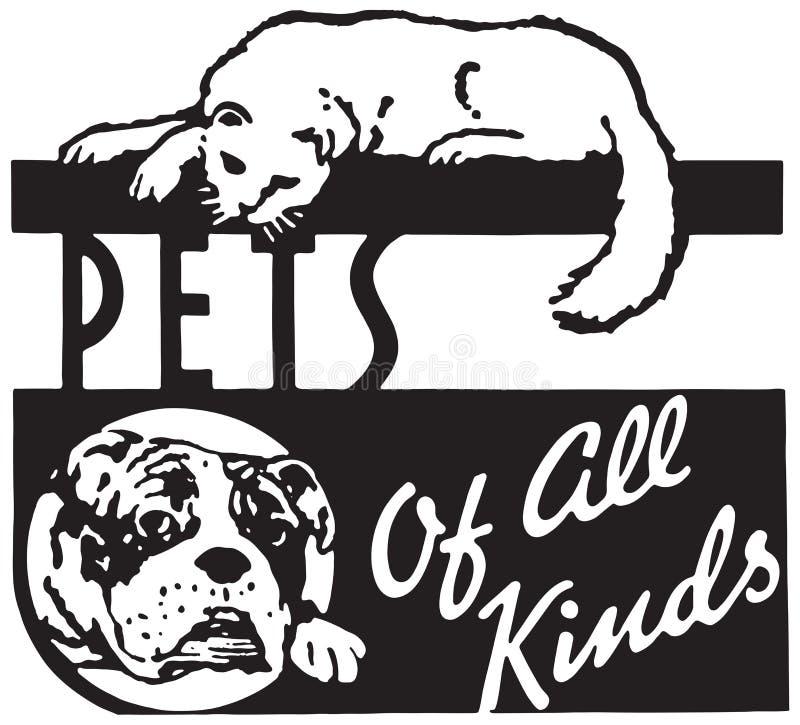 Animales domésticos de todas las clases libre illustration