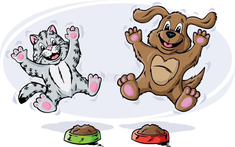 Animales domésticos felices stock de ilustración