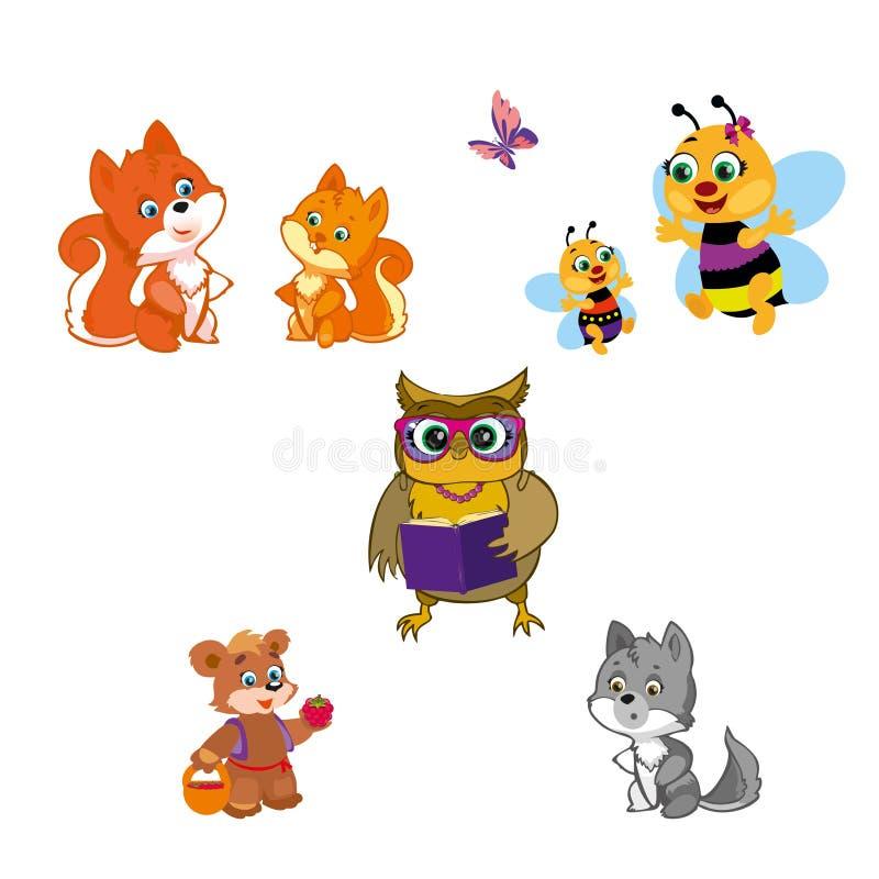 Animales en blanco libre illustration