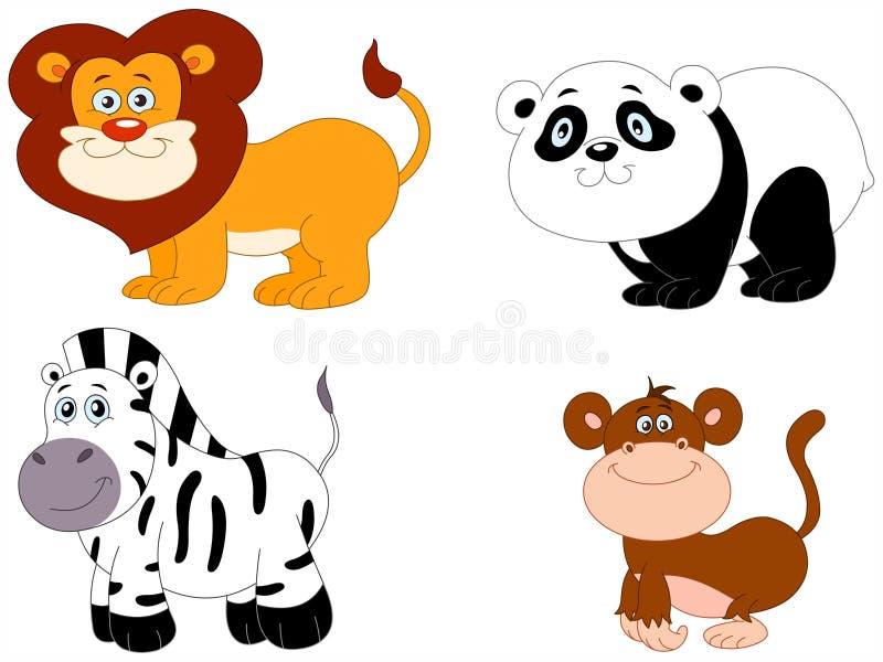 Animales lindos 2 ilustración del vector