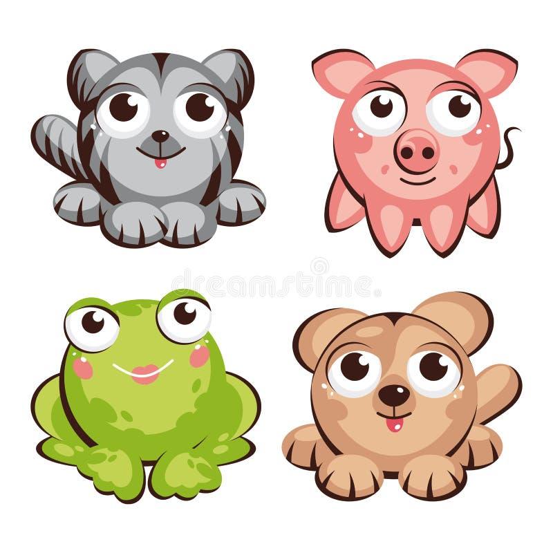 Animales lindos ilustración del vector
