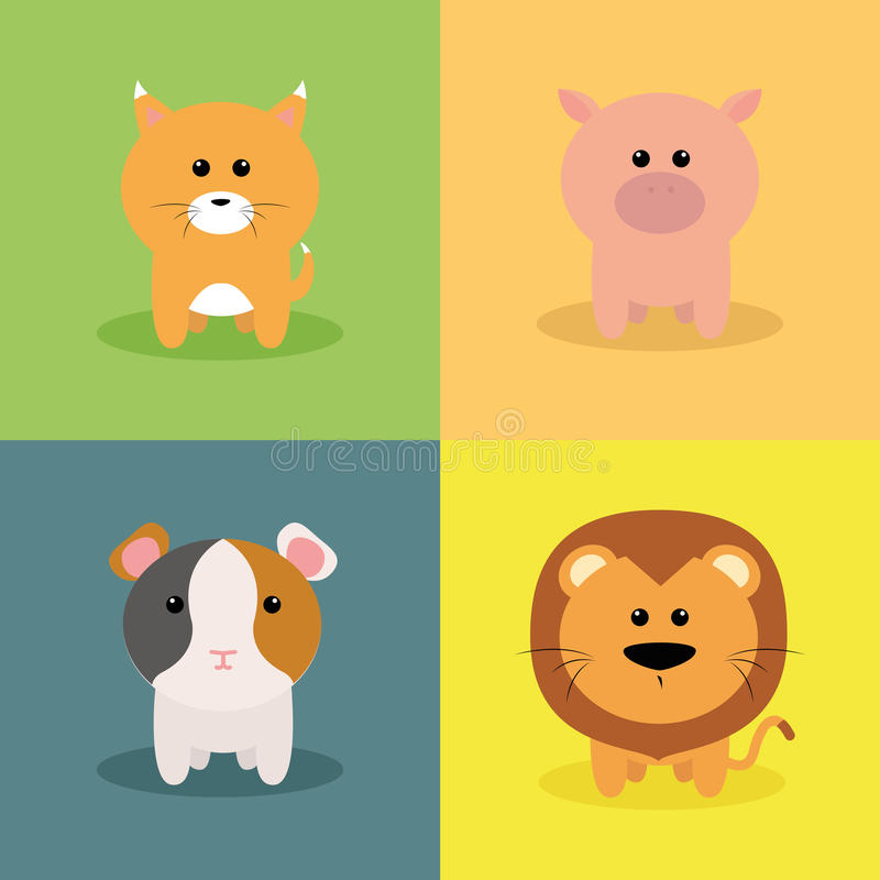 Animales lindos de la historieta libre illustration