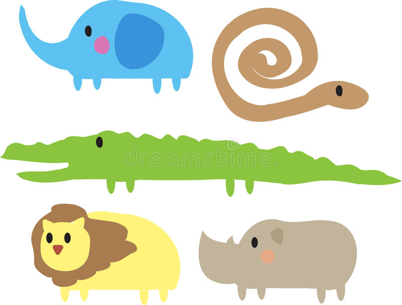 Animales lindos de la selva libre illustration
