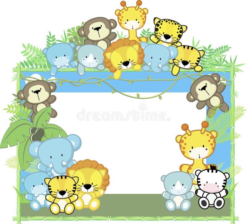 Animales lindos del bebé stock de ilustración