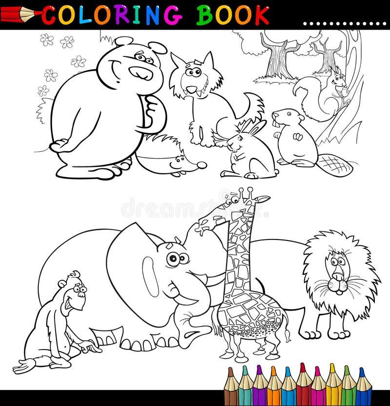Animales para el libro o la paginación de colorante libre illustration