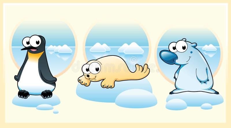 Animales polares ilustración del vector