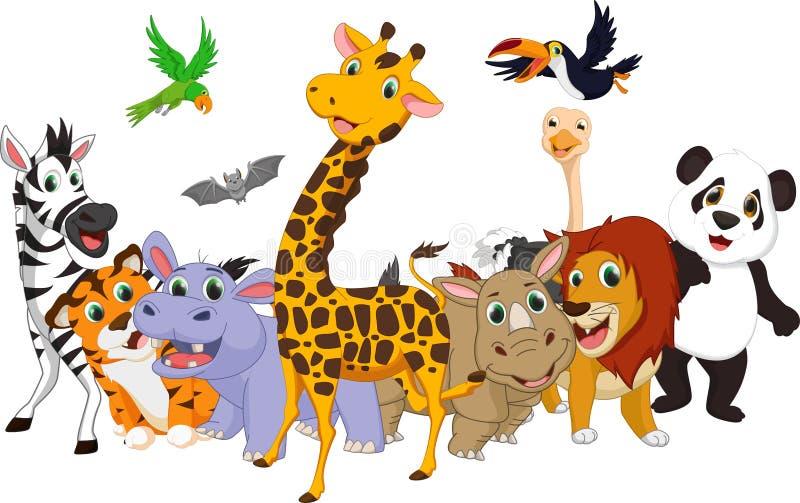 Animales salvajes de la historieta libre illustration