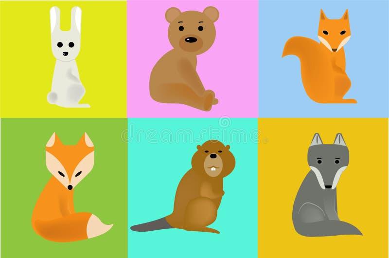 Animales salvajes de los ejemplos libre illustration
