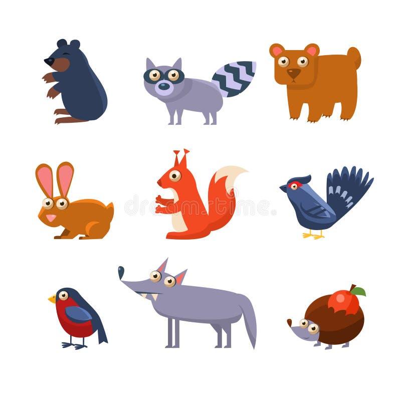 Animales salvajes del bosque Ilustración del vector stock de ilustración