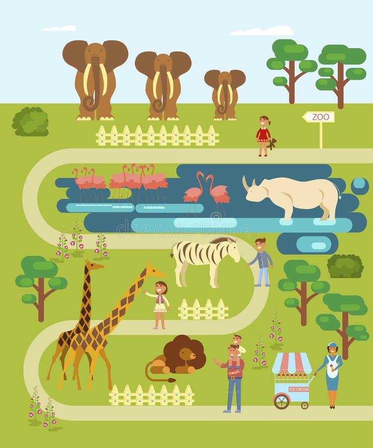 Animales y gente libre illustration