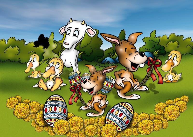 Animales y Pascua imagen de archivo libre de regalías