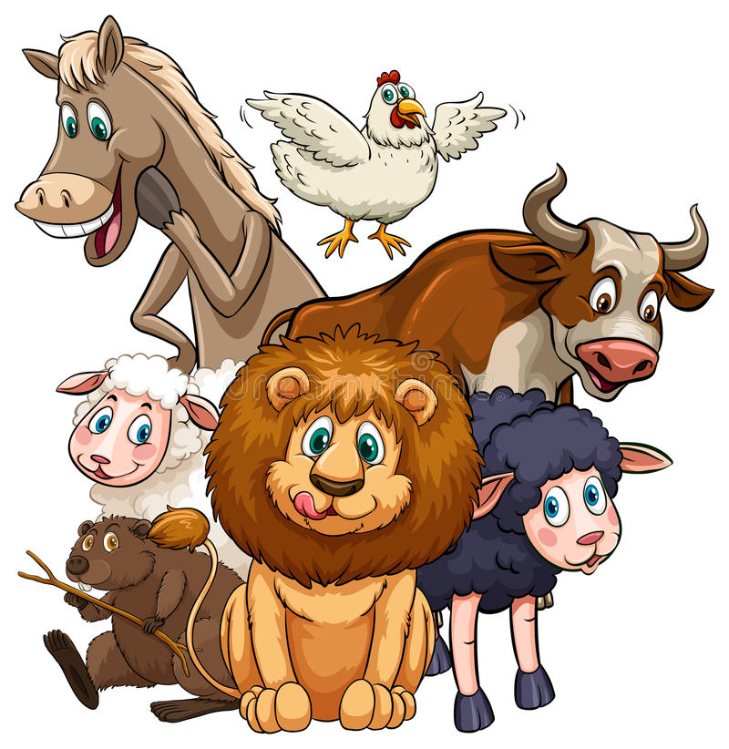 Download Animali illustrazione vettoriale. Illustrazione di cute - 55365390