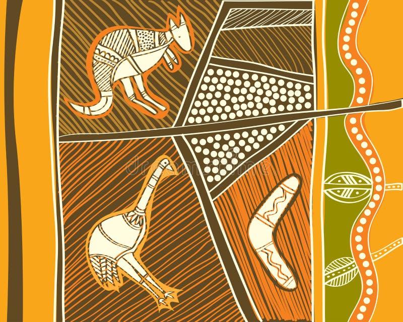 Animali aborigeni illustrazione vettoriale