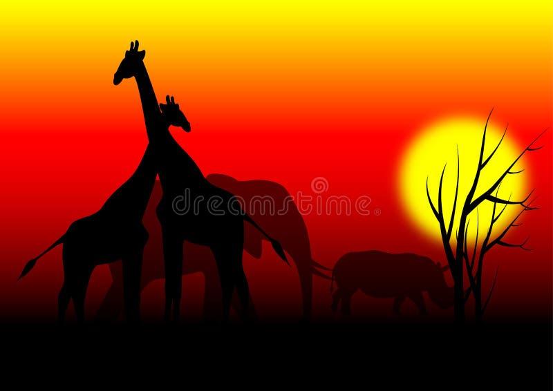 Animali in Africa royalty illustrazione gratis