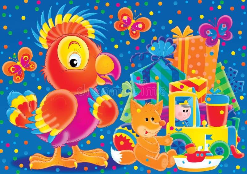 Animali allegri 17 illustrazione di stock