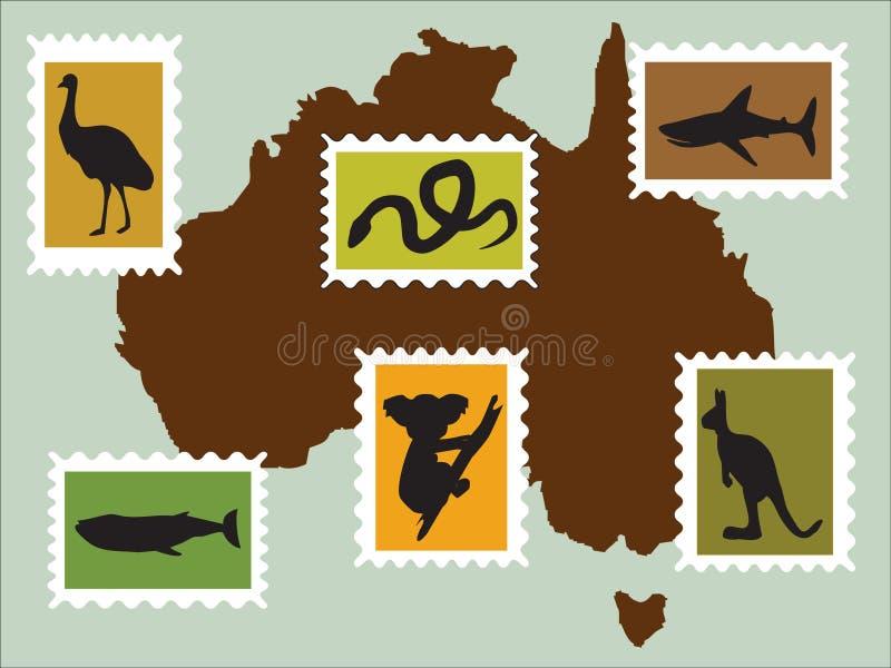 Animali australiani fotografia stock