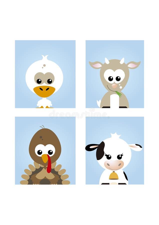 Animali da allevamento svegli 2 illustrazione vettoriale