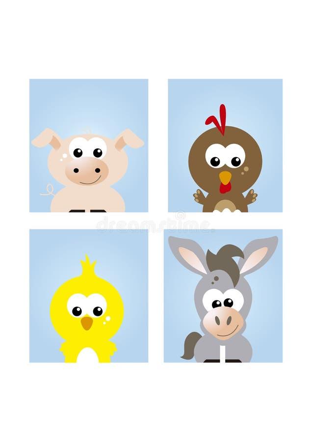 Animali da allevamento svegli 1 illustrazione vettoriale