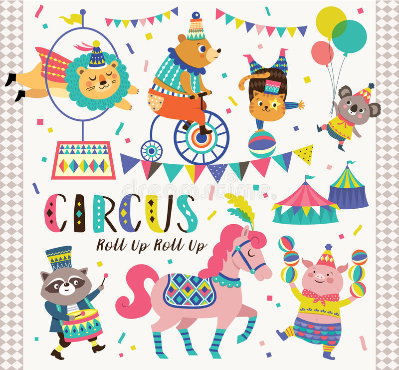 Animali da circo royalty illustrazione gratis