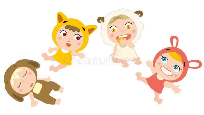 Animali del gioco dei bambini illustrazione vettoriale