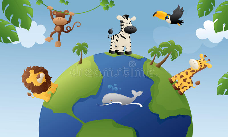 Animali del mondo royalty illustrazione gratis