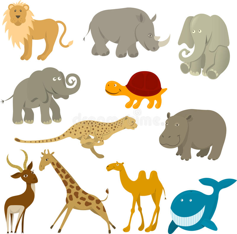 Animali della fauna selvatica royalty illustrazione gratis