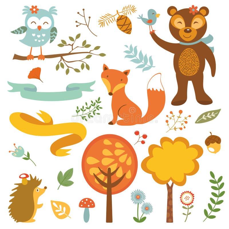 Animali della foresta illustrazione vettoriale